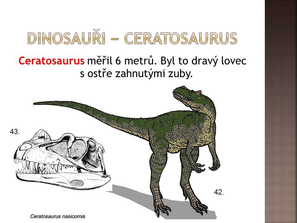 dInosauři − ceratosaurus