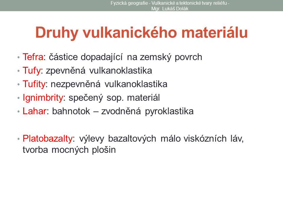 Druhy vulkanického materiálu