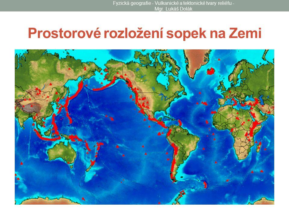Prostorové rozložení sopek na Zemi