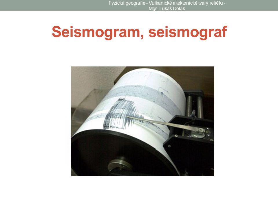 Seismogram, seismograf