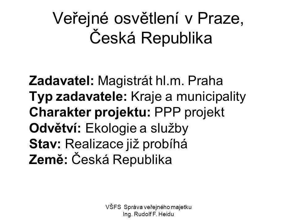 Veřejné osvětlení v Praze, Česká Republika