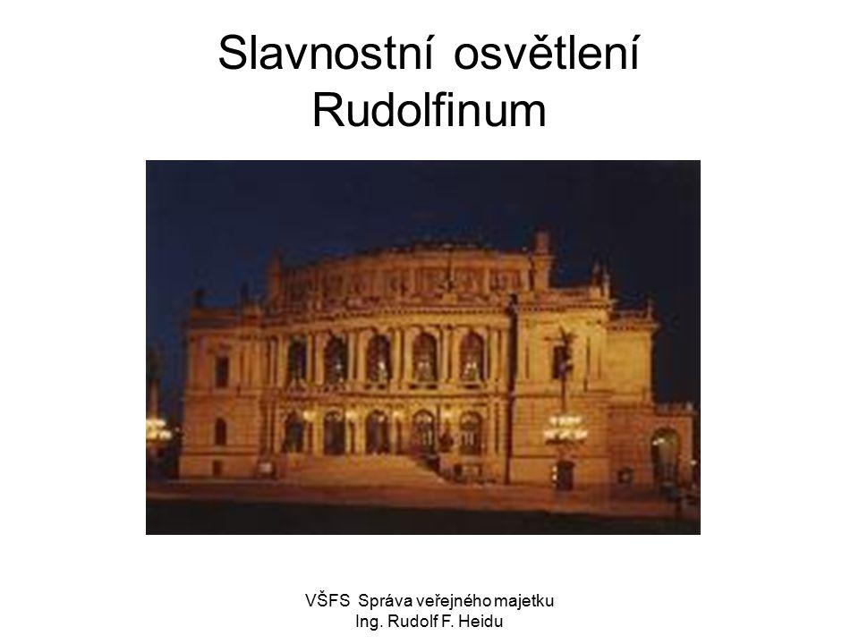 Slavnostní osvětlení Rudolfinum