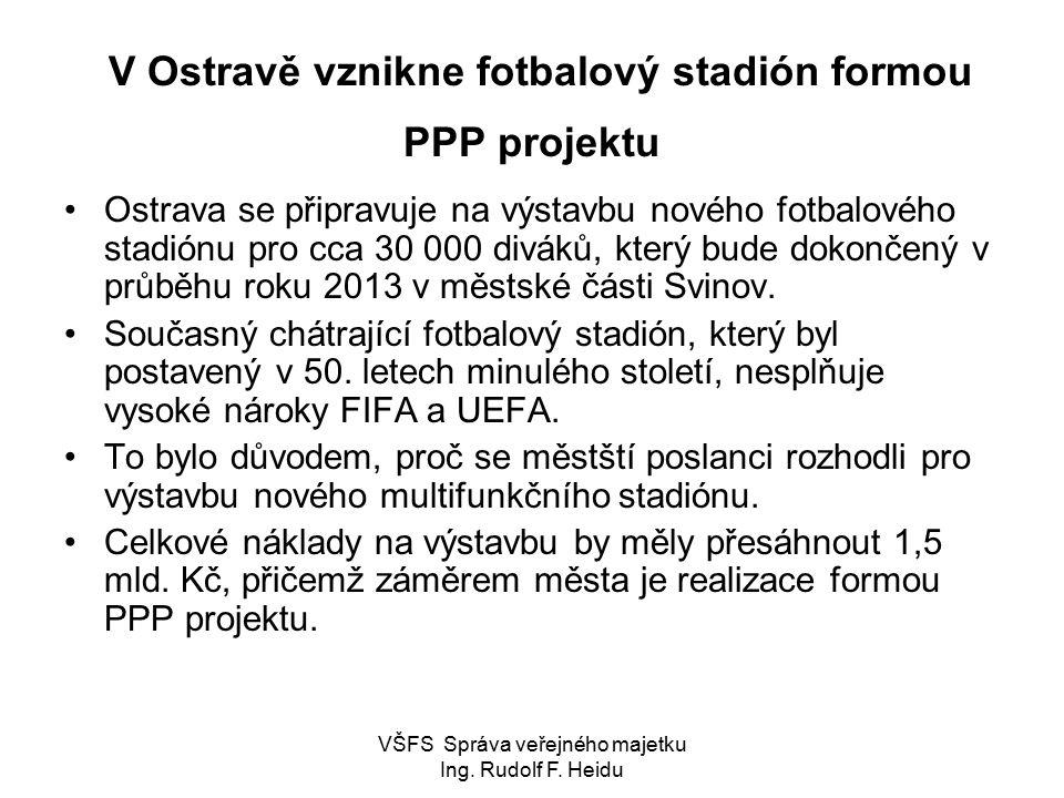 V Ostravě vznikne fotbalový stadión formou PPP projektu