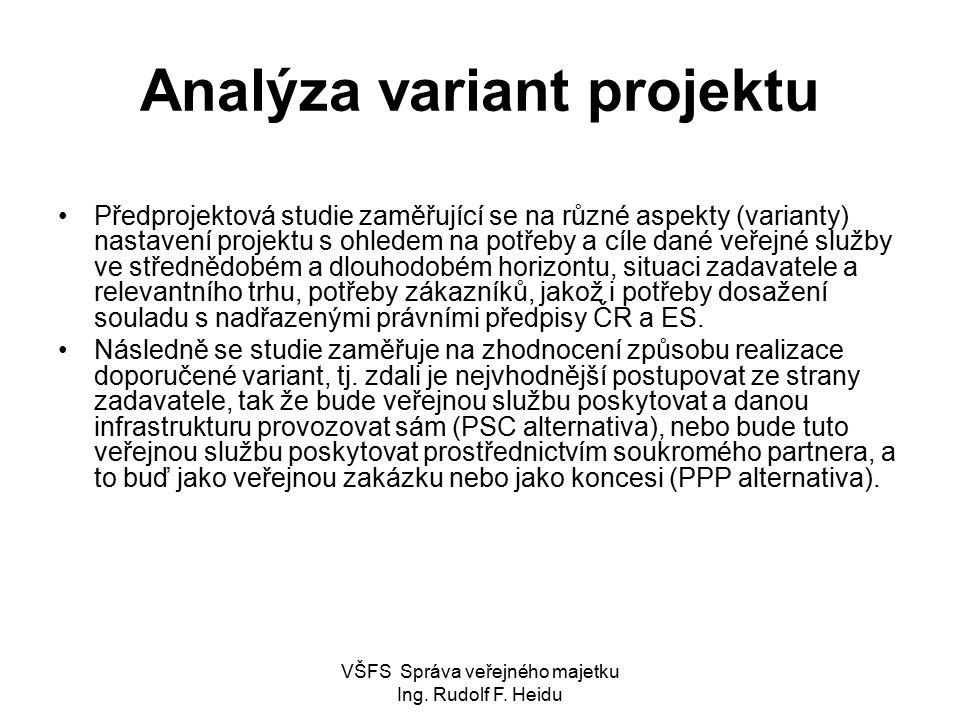 Analýza variant projektu