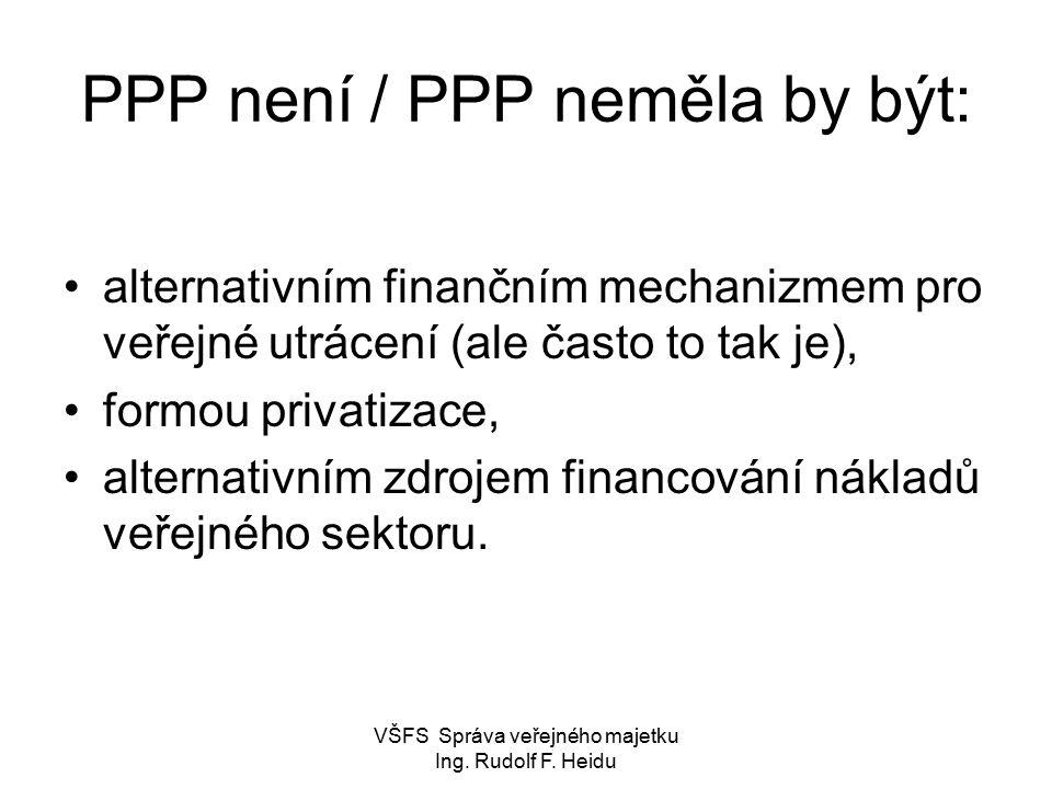 PPP není / PPP neměla by být: