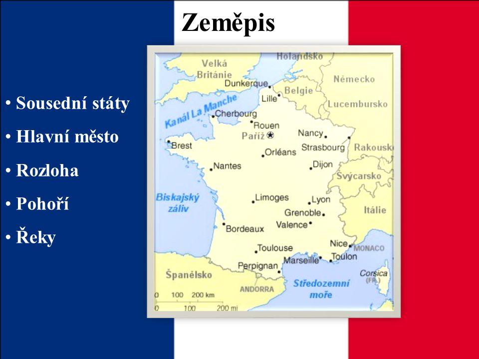 Zeměpis Sousední státy Hlavní město Rozloha Pohoří Řeky