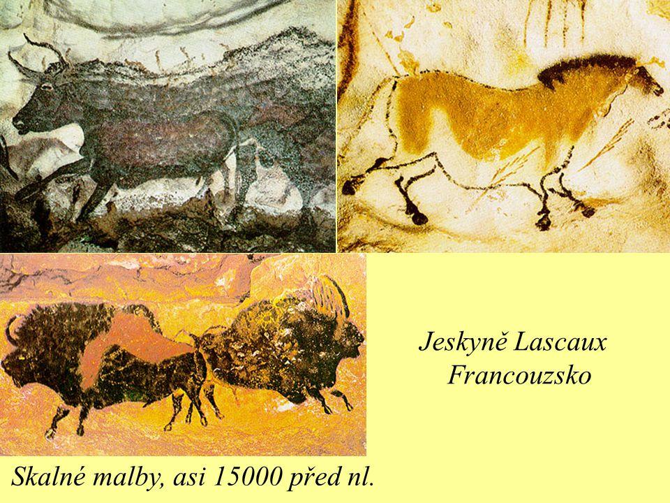 Jeskyně Lascaux Francouzsko Skalné malby, asi 15000 před nl.