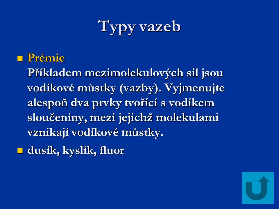 Typy vazeb