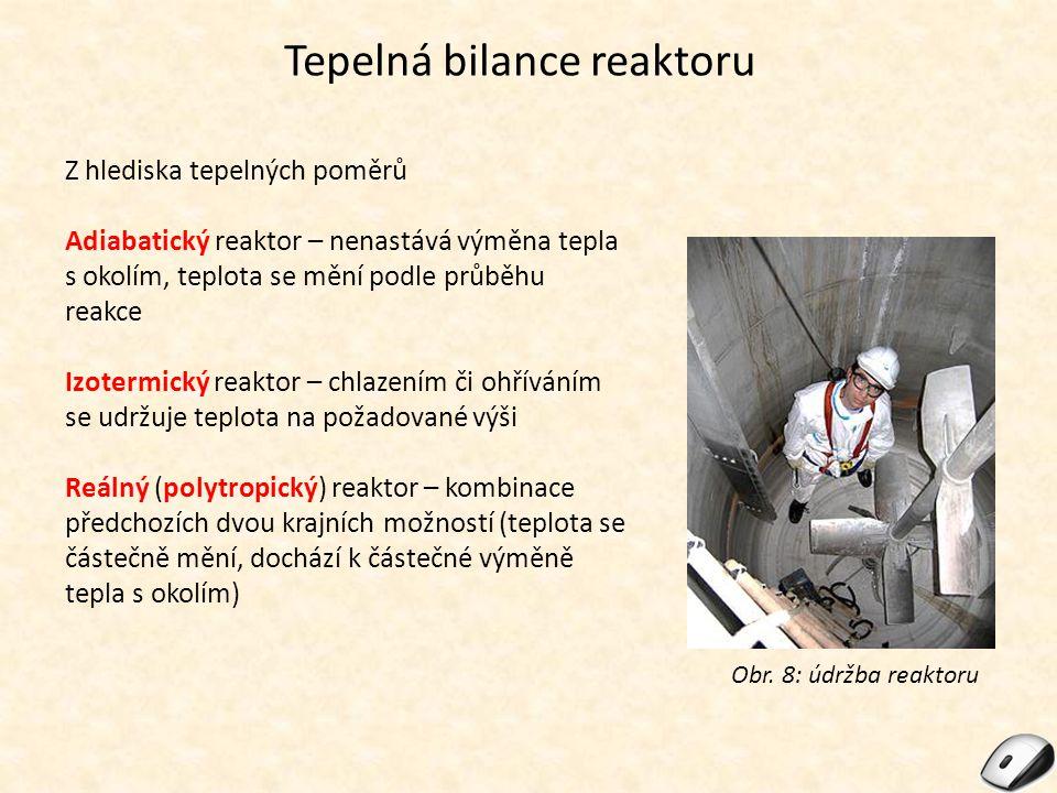 Tepelná bilance reaktoru