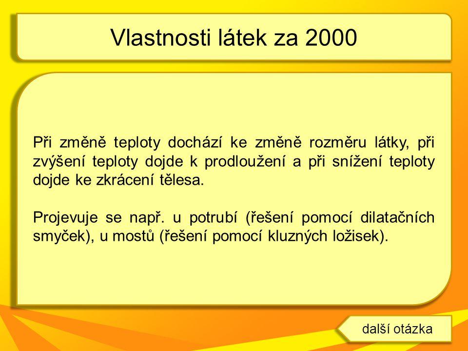 Vlastnosti látek za 2000