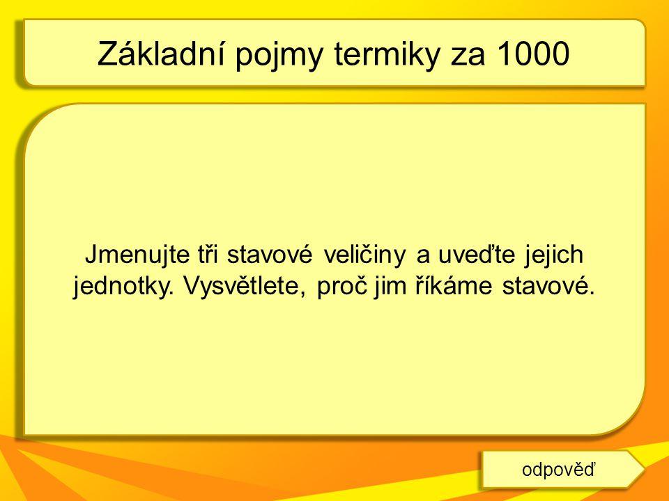 Základní pojmy termiky za 1000