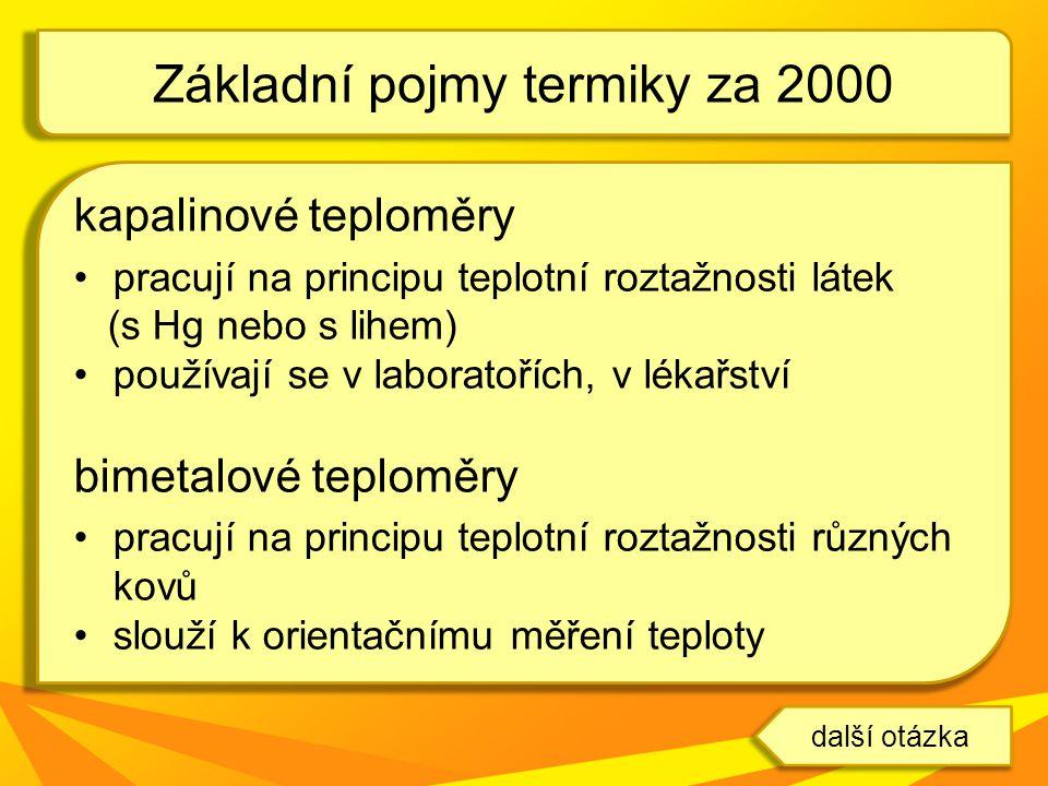 Základní pojmy termiky za 2000