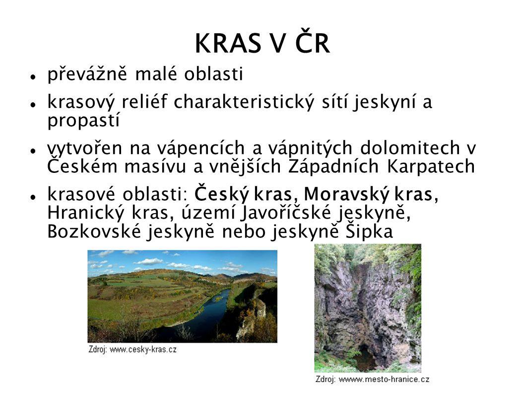 KRAS V ČR převážně malé oblasti
