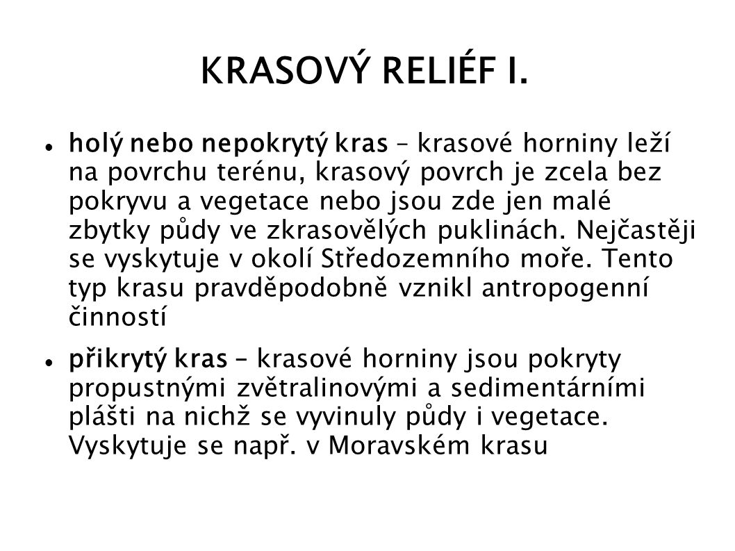 KRASOVÝ RELIÉF I.