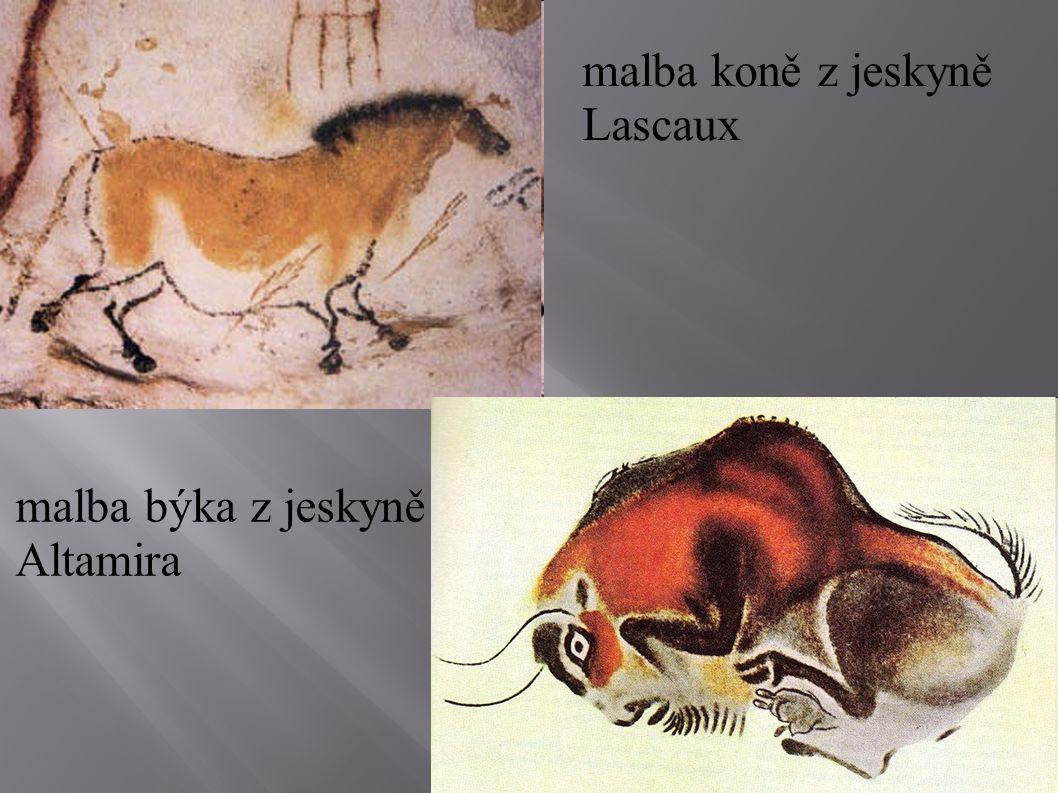 malba koně z jeskyně Lascaux
