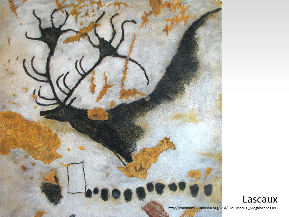 Lascaux http://commons.wikimedia.org/wiki/File:Lascaus,_Megaloceros.JPG