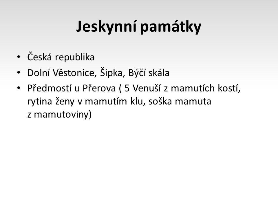 Jeskynní památky Česká republika Dolní Věstonice, Šipka, Býčí skála