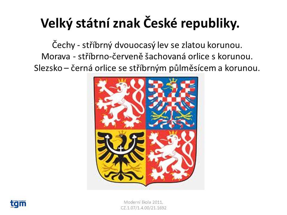 Velký státní znak České republiky.