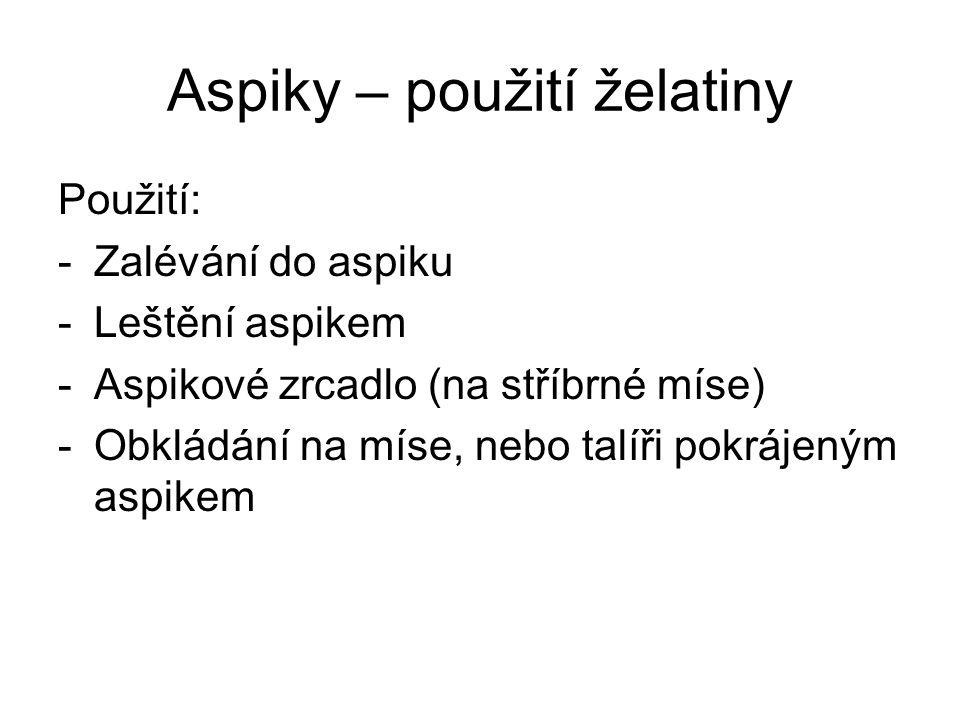 Aspiky – použití želatiny