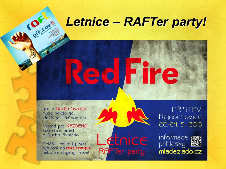 Letnice – RAFTer party!