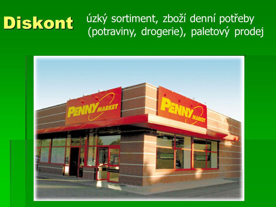 Diskont (potraviny, drogerie), paletový prodej