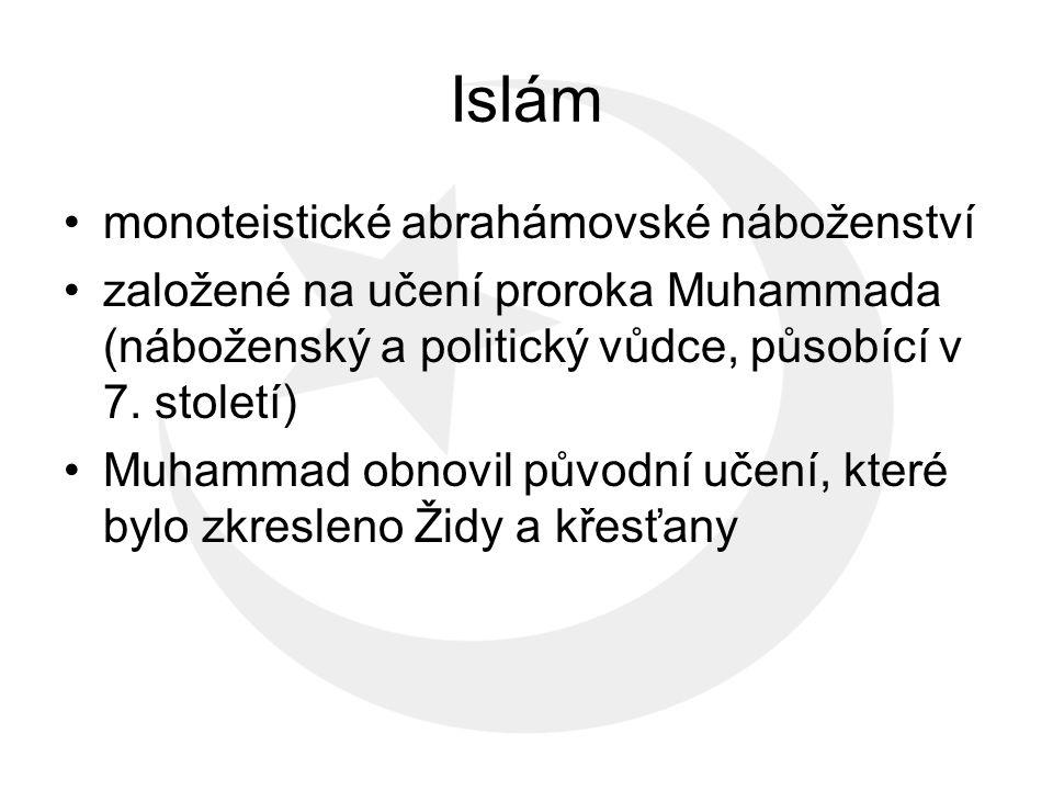 Islám monoteistické abrahámovské náboženství