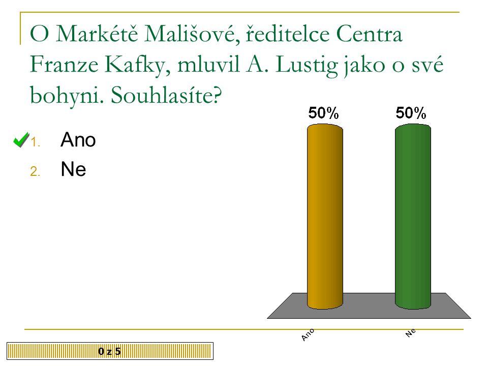 O Markétě Mališové, ředitelce Centra Franze Kafky, mluvil A