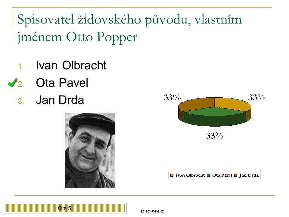 Spisovatel židovského původu, vlastním jménem Otto Popper