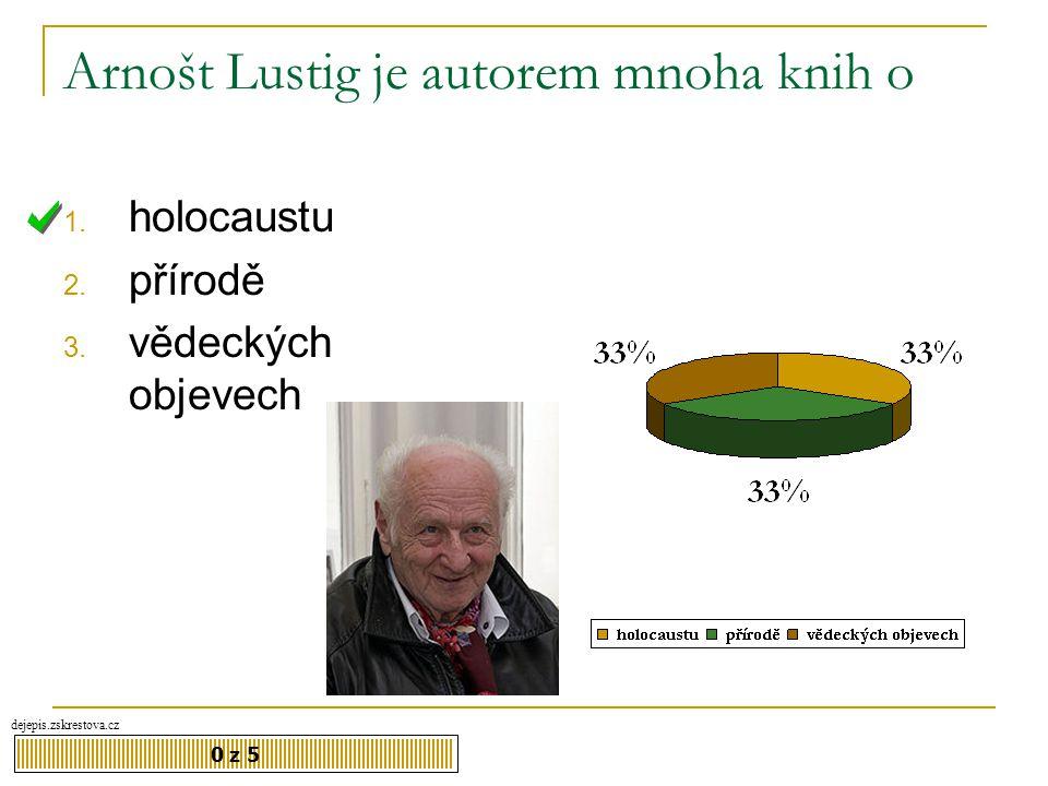 Arnošt Lustig je autorem mnoha knih o