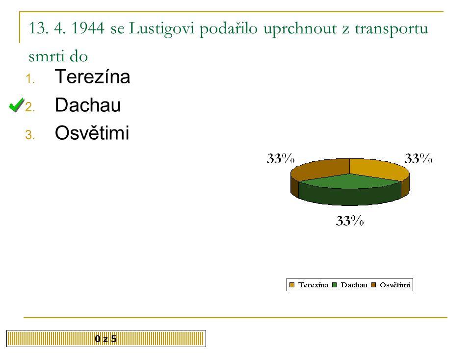 13. 4. 1944 se Lustigovi podařilo uprchnout z transportu smrti do
