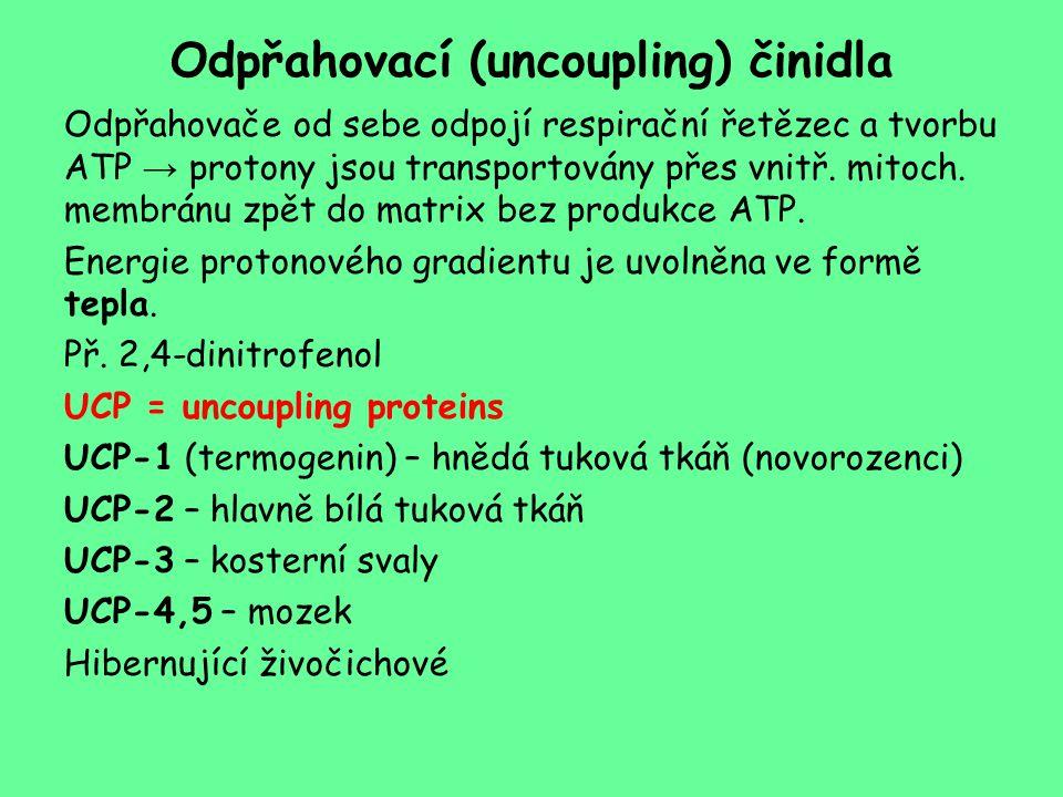 Odpřahovací (uncoupling) činidla