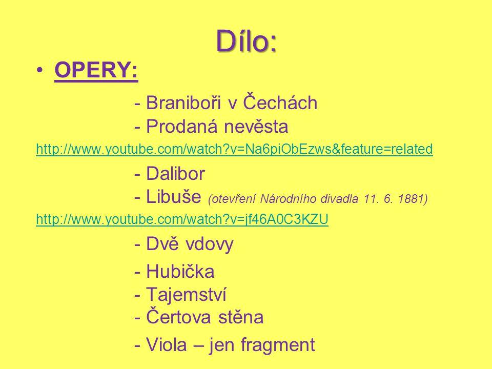 Dílo: OPERY: - Braniboři v Čechách - Prodaná nevěsta