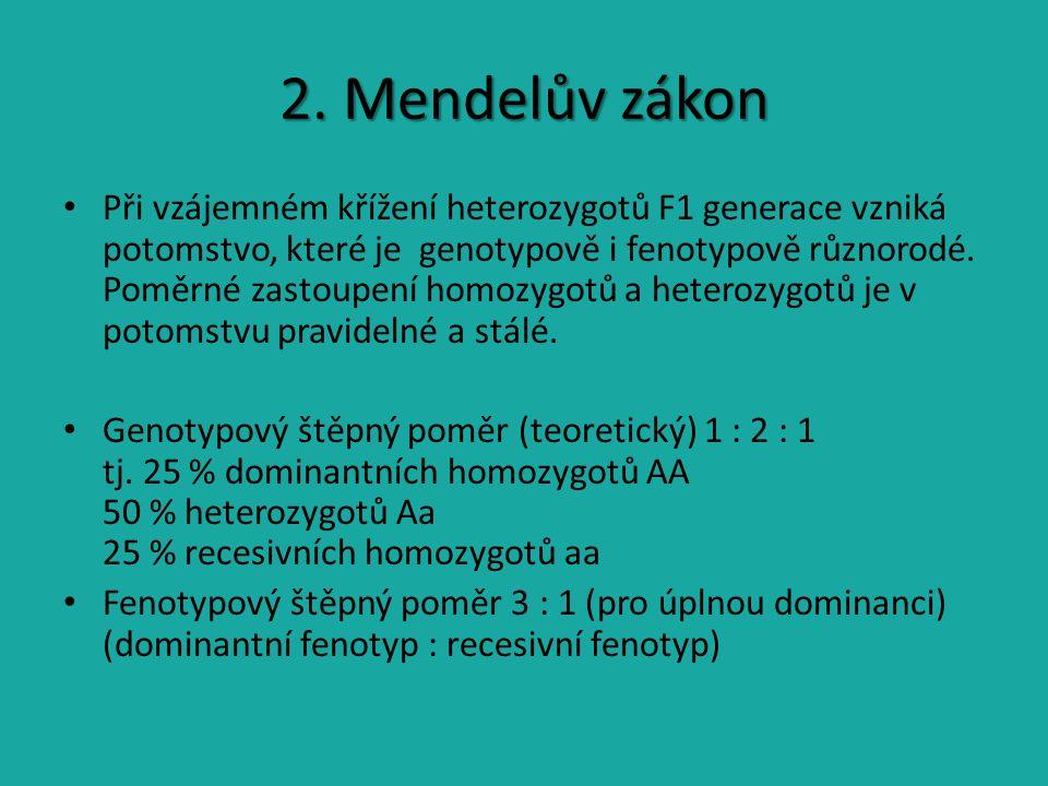 2. Mendelův zákon