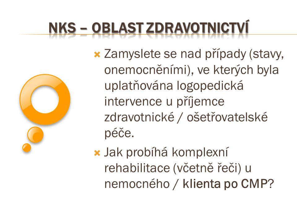 NKS – oblast zdravotnictví