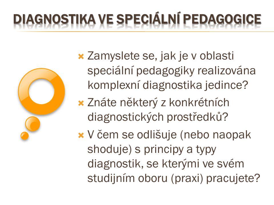Diagnostika ve speciální pedagogice