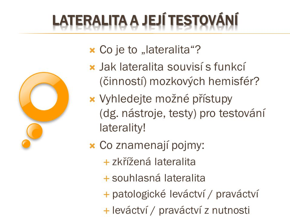 lateralita a její testování