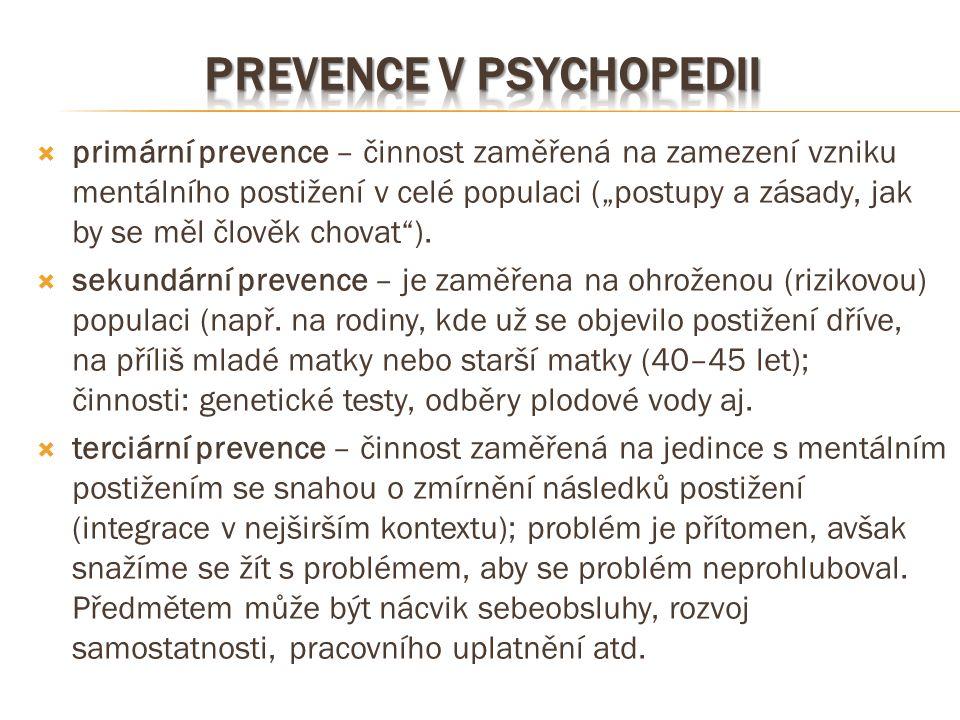 Prevence v psychopedii