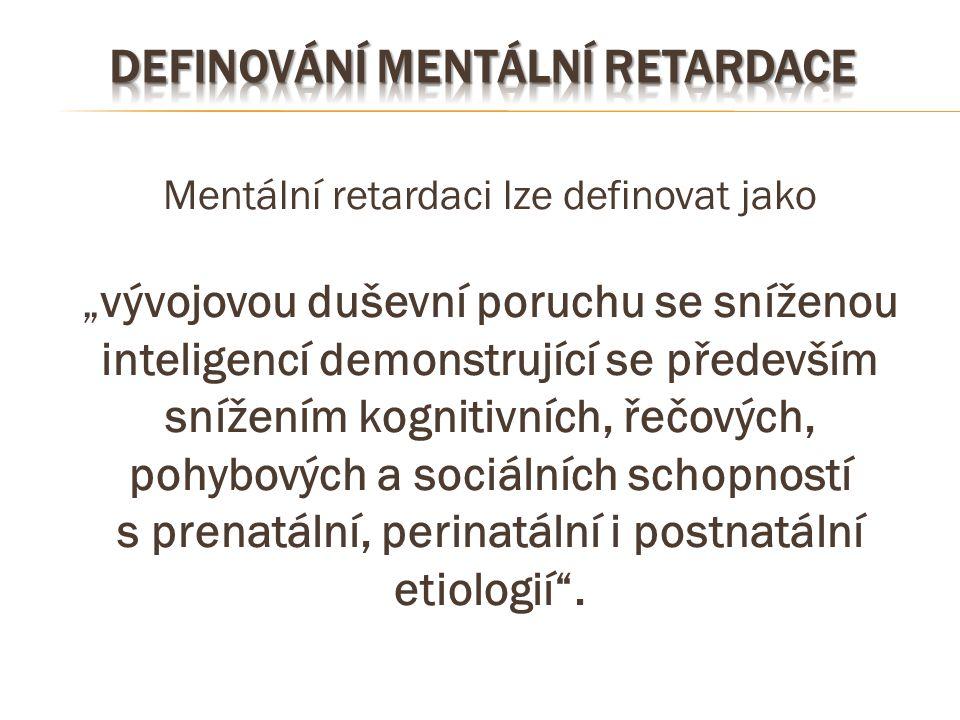 Definování mentální retardace