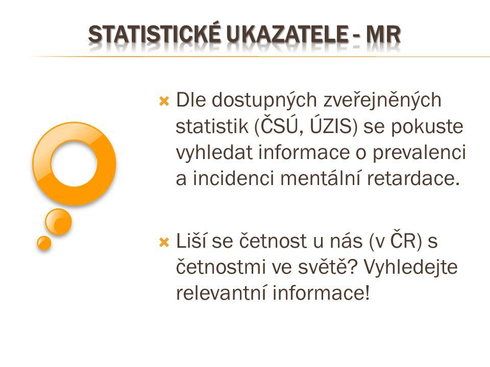 Statistické ukazatele - MR