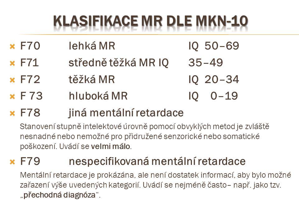 Klasifikace mr dle mkn-10