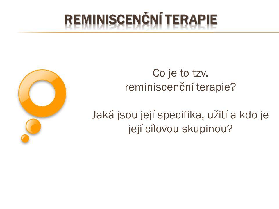 Reminiscenční terapie