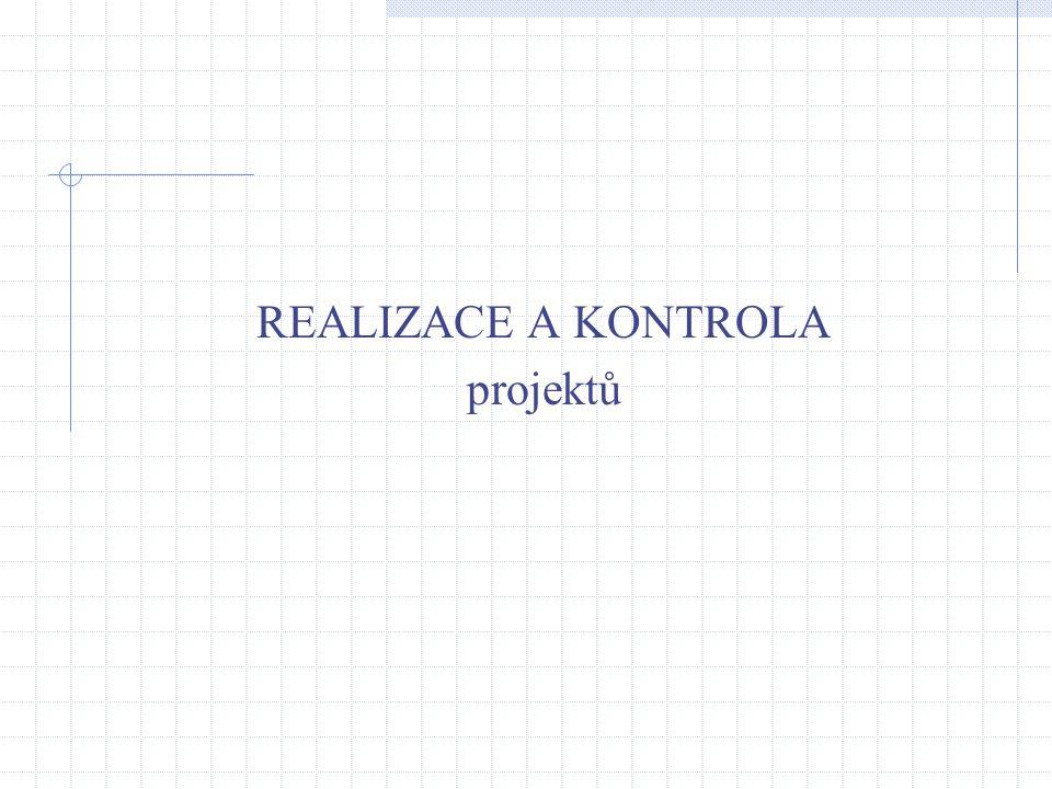 REALIZACE A KONTROLA projektů