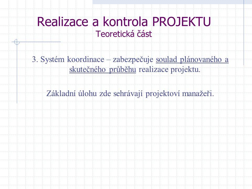Realizace a kontrola PROJEKTU Teoretická část