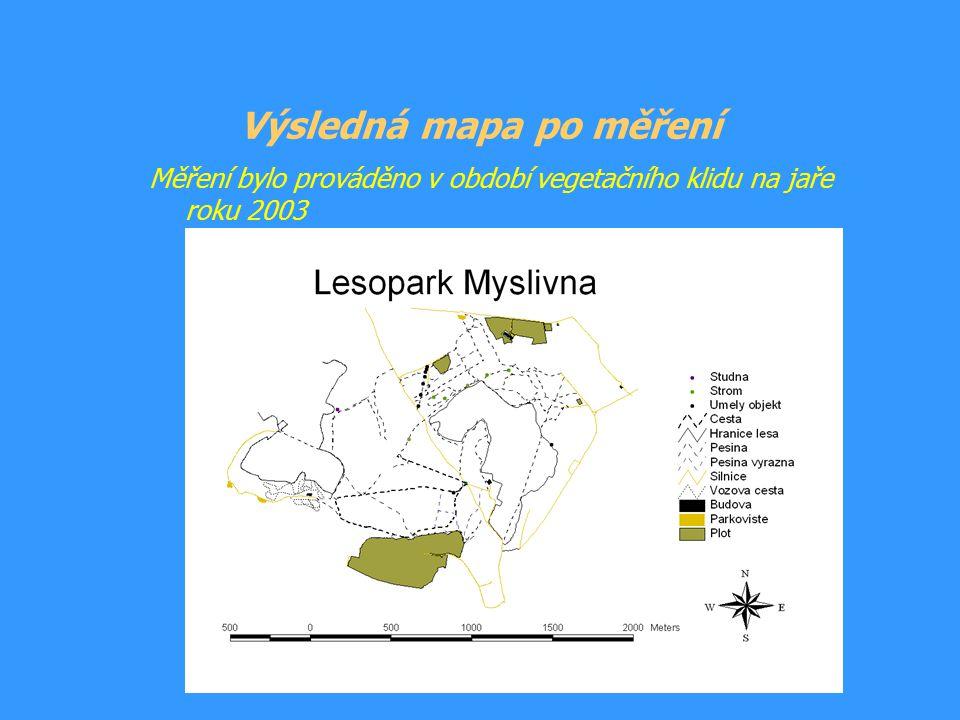 Výsledná mapa po měření