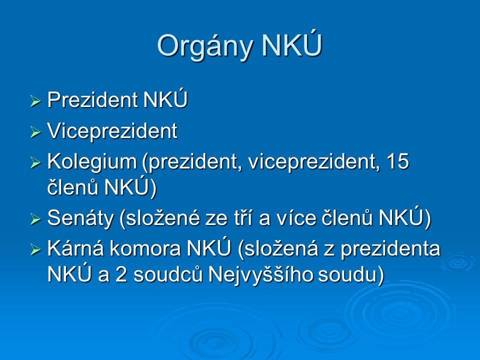 Orgány NKÚ Prezident NKÚ Viceprezident