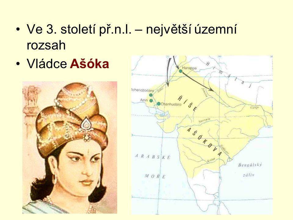 Ve 3. století př.n.l. – největší územní rozsah