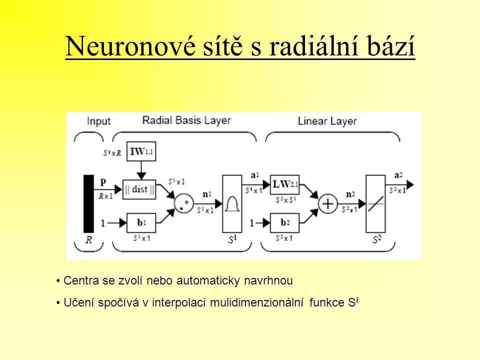 Neuronové sítě s radiální bází