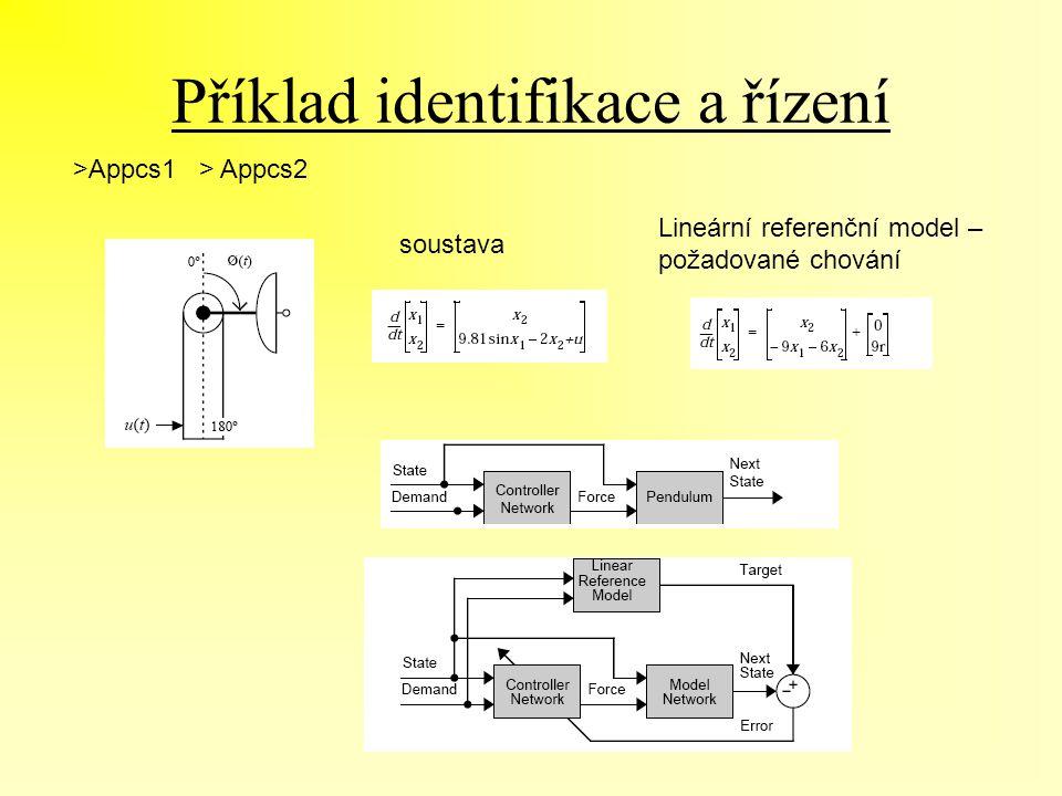 Příklad identifikace a řízení