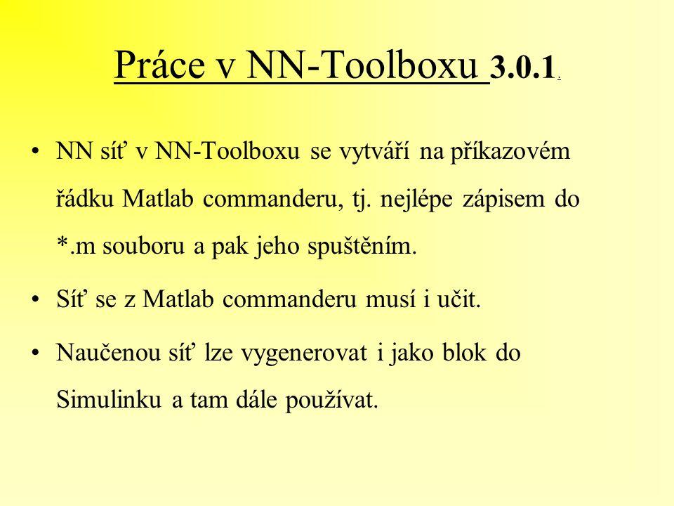 Práce v NN-Toolboxu 3.0.1.