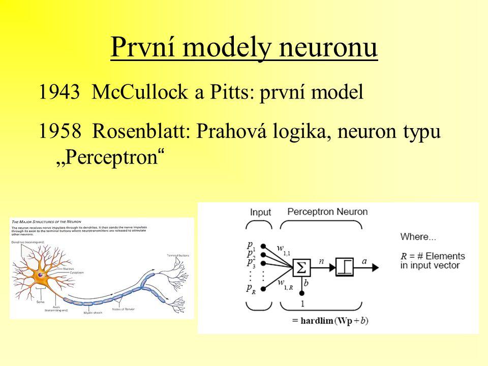První modely neuronu McCullock a Pitts: první model